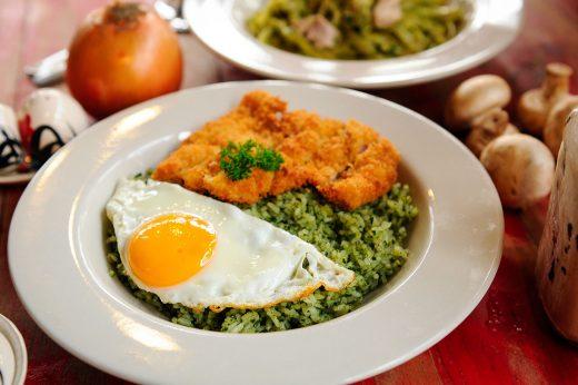 Pesto Rice Chicken Katsu