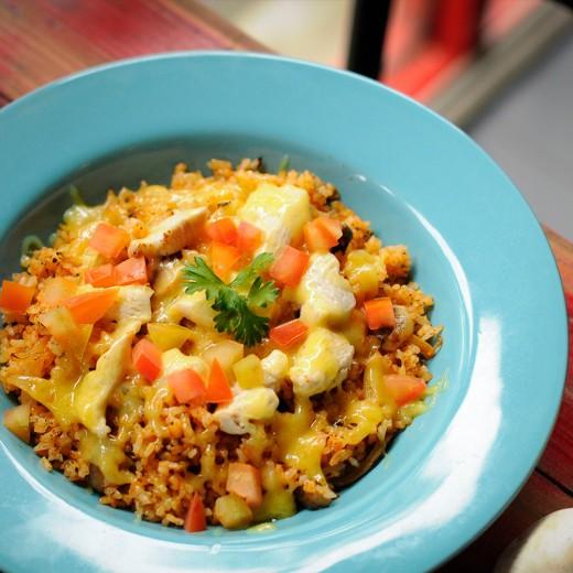 Tomato Mozzarella Rice
